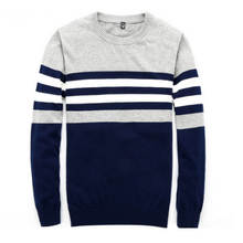 Sweater Men 2019 New Arrival Casual Pullover Men Autumn Round Neck Patchwork Quality Knitted Brand Male Sweaters Size M-4XL