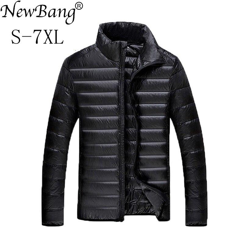 NewBang Brand 7XL Duck Down Jacket Men Winter Jacket Men Warm Windbreaker Feather Parkas Ultra Light Down Jacket Men Outwear