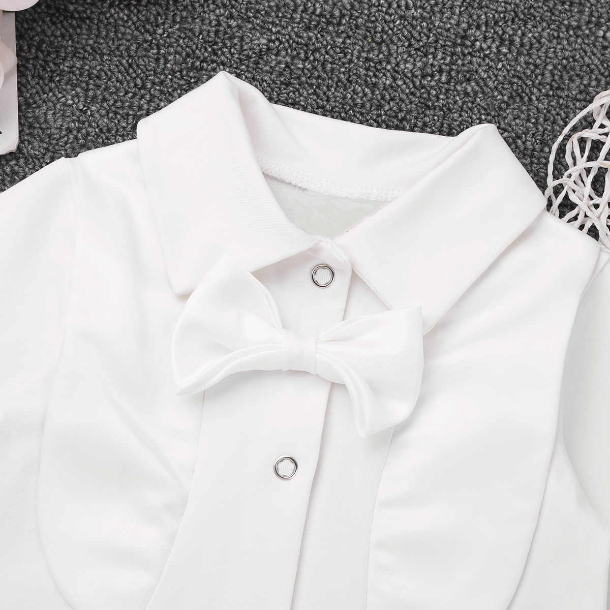 115896b149e17 Newborn Infant Baby Boys One-piece Baptism Suit Long Sleeves Lapel Bowtie  Romper Jumpsuit for Baby Boys Christening Outfit