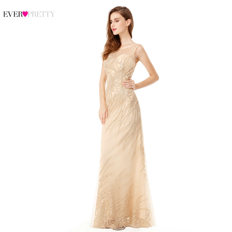 Sexy Prom Dresses Long 2019 Ever Pretty Sequin Sparkle Sleeveless Beading Backless Mermaid Beading Women's Vestidos De Gala-in Prom Dresses from Weddings & Events    3