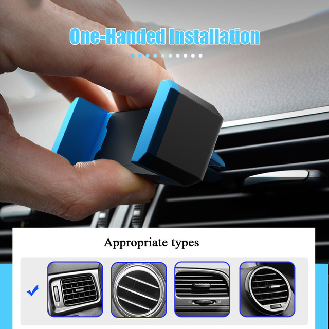 Hisomone Universal Car Phone Holder Stand Air Vent Mount Holder 360 Degreen For Phone Support 4-6 inch Holder Stand in Car 2