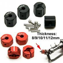 4Pcs DIY Thickness 8/9/10/11/12mm Alloy RC Car Part