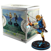 10inch Anime Game The Legend of Zelda Breath of the Wild Link Statue PVC Action Figures toys Anime figure Toys For Kids children