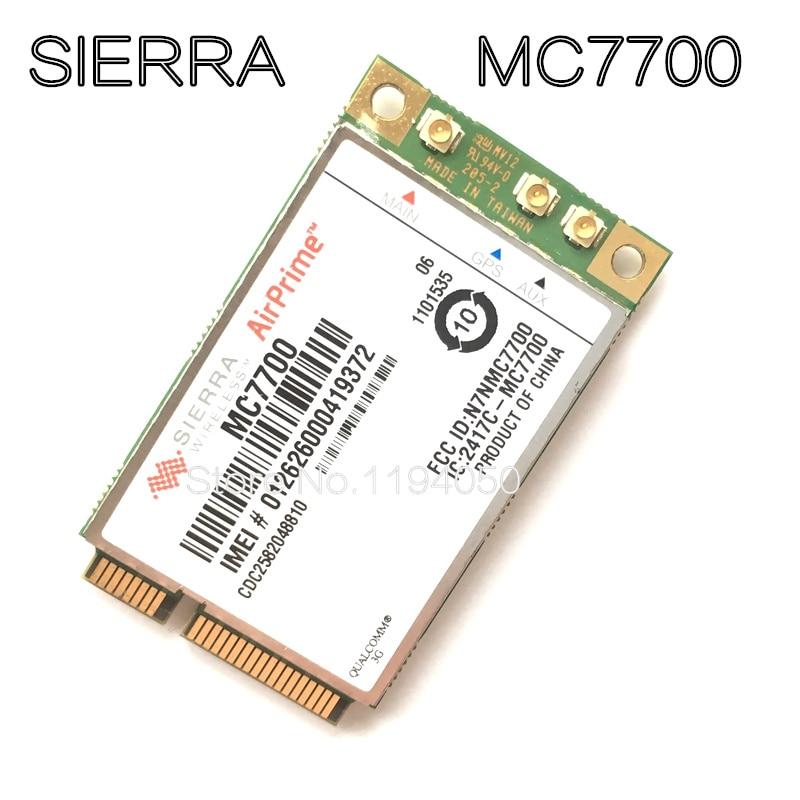 Mini PCI-E 3G WWAN GPS Module Sierra MC7700 PCI Express 4G HSPA LTE 100MBP Wireless WWAN WLAN Card GPS Unlocked Free Shipping 4G