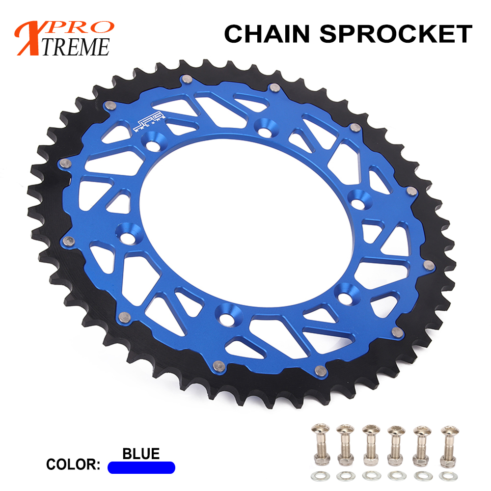 Chain Rear Sprocket 44 46 47T 48T 49T 50T 51T 52T For YAMAHA YZ125 YZ250 YZ