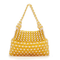 INS New Explosive Hand Purified Hand Bead Bag Summer Necessary Princess Bead Bag Hand Bag