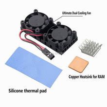 1 Piece Mini 40mm DC 12V 2-Pin Computer PC VGA Video Heat Spread Cooler Cooling Fan Heatsink for 3D Printer