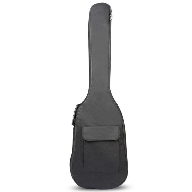 Черный водонепроницаемый рюкзак с двумя лямками для бас-гитары, сумка для концертов, чехол для электрических басов, толщина 5 мм, чехол с губчатой подкладкой для гитары