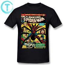 36264eee54 Spiderman camiseta T camisa increíble cómic de Spider-Man-135 camiseta 100  algodón de manga corta Camiseta impresión divertido h.