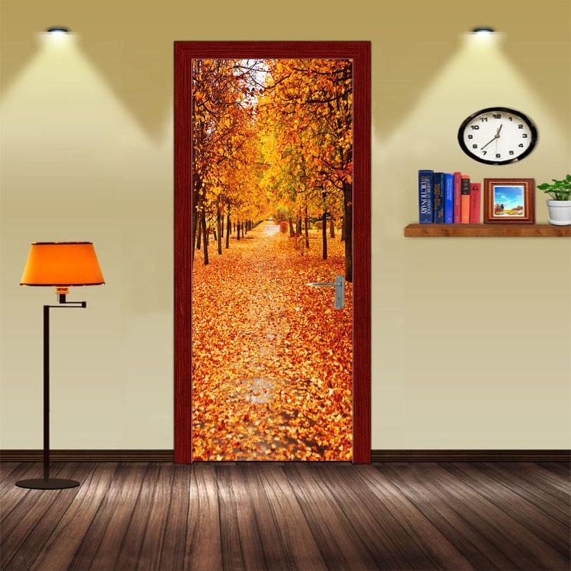 2018 3D Wall Door Sticker Decal Art Decor Vinyl Removable Mural Poster Scene Window Door
