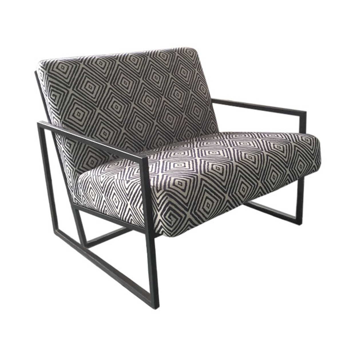 Black And White Accent Chair Us 1196 71 Diamond Luxe Accent Chair In Black White Geo Pattern Fabric In Living Room Chairs From Furniture On Aliexpress Alibaba Group