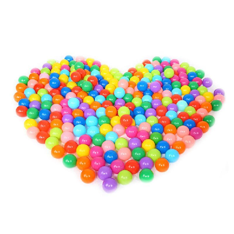 100 pièces 8 cm Fun Souple Multicolore En Plastique boule de l'océan Bébé Enfants De Bain Pit Jouets Coloré qualité supérieure Matériel Non-toxique pas D'odeur