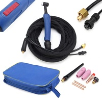 Air Cooled WP 17FV 12 Foot 150Amp Tig Welding Torch Complete With Flexible & Valve Head Tools New TIG Torch Flex Gas Valve