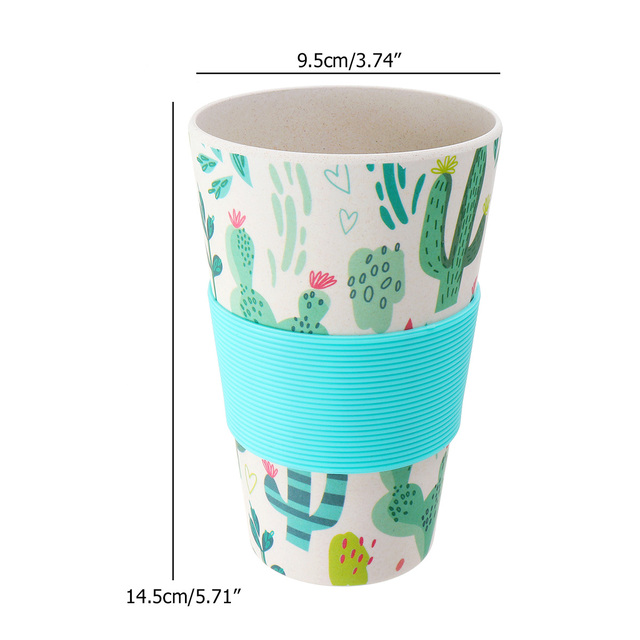 Cactus Print Reusable Bamboo Travel Mugs