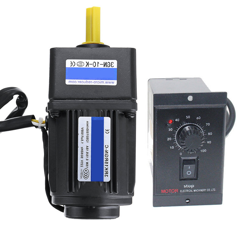 AC220V 15W 125RPM Electric Motor Variable Speed Controller Adjust Speed / Forward / Reverse / Reduction Motor Speed ControllerAC220V 15W 125RPM Electric Motor Variable Speed Controller Adjust Speed / Forward / Reverse / Reduction Motor Speed Controller