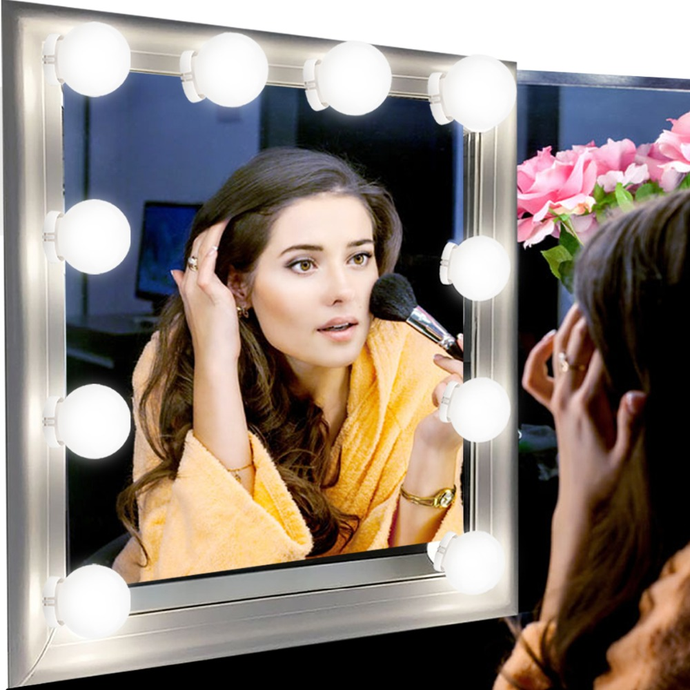 USB Powered Hollywood LED Mirror Light Makeup 5V Light Studio Bathroom Mirror Fill Light LED Bulb Cosmetic Dressing Table Lamp 4USB Powered Hollywood LED Mirror Light Makeup 5V Light Studio Bathroom Mirror Fill Light LED Bulb Cosmetic Dressing Table Lamp 4