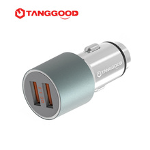 TANGGOOD 36W USB Car Charger QC3.0 2.0 Mobile Phone Charger 2 Port USB Fast Charging Car Charger for Samsung Xiaomi iPhone
