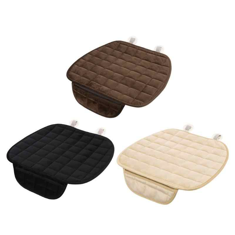 Universal Car Seat Cover Winter Plush Anti Slip Cushion Pad Mat Office Chair Soft Breathable Seat Cover Auto Interior Accessorie