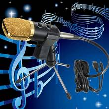 Mount Broadcasting Station Computer Efficient Easier Audio Dynamic USB Condenser Sound Recording Vocal Microphone Mic With Stand(China)