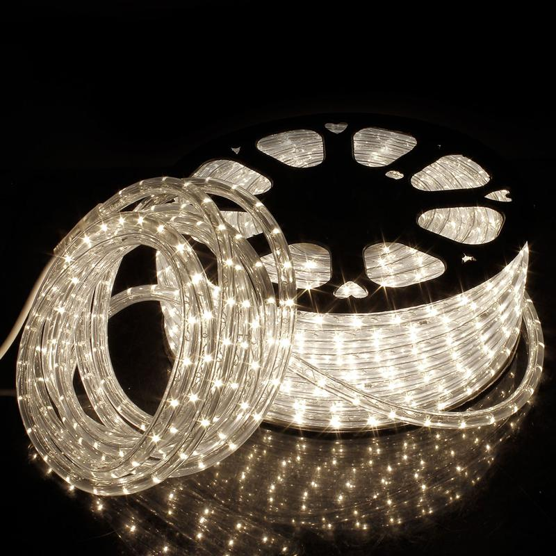 Led Strip 220V Waterproof Warm White Decoration Christmas Lights Outdoor 50M Connector Led Lighting Strips Outdoor And Indoor