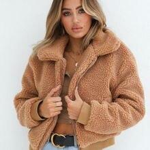 Women Lady Oversized Coat Ladies Faux Fur Zip Outdoor Jacket Overcoat Outwear Wa