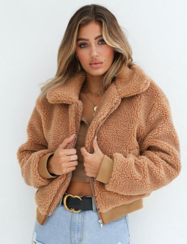 Women Lady Oversized Coat Ladies Faux Fur Zip Outdoor Jacket Overcoat Outwear Warm Winter Clothing