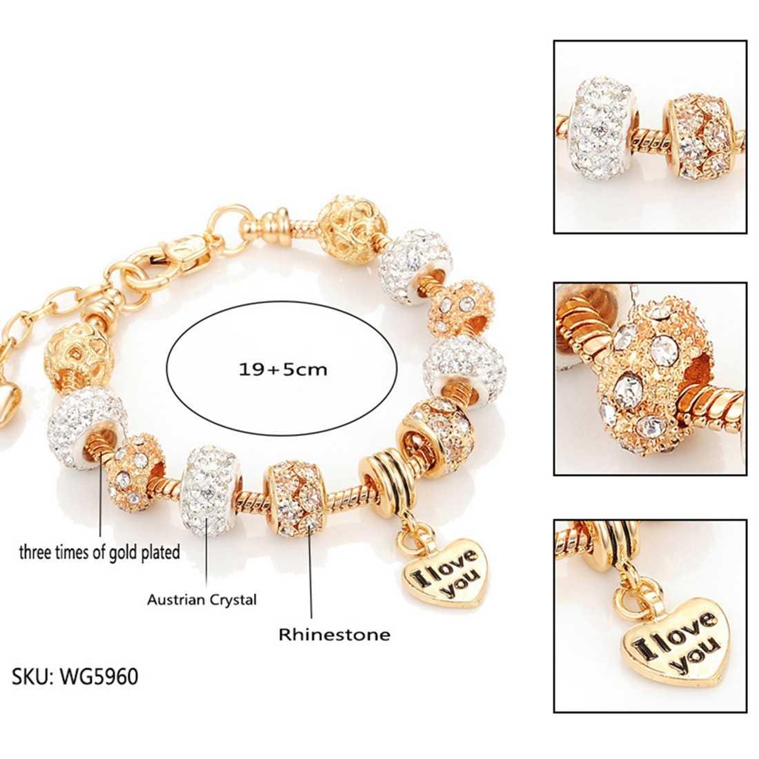 Jiayiqi 2019 moda jóias charme corda decoração pulseira de ouro para mulher