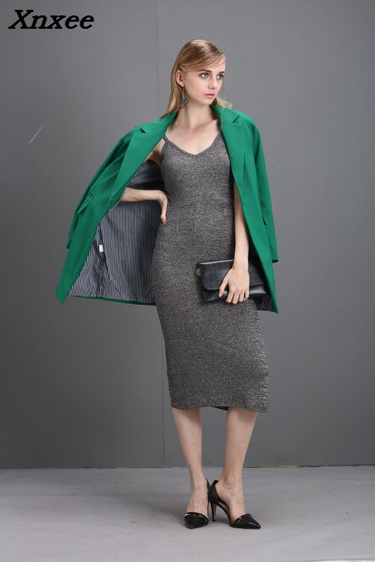 Women Blazer Formal Offie Coat Elegant Medium-Long Style Suit Long Sleeves Casual Female Jacket Blazer Feminino Autumn Outwear