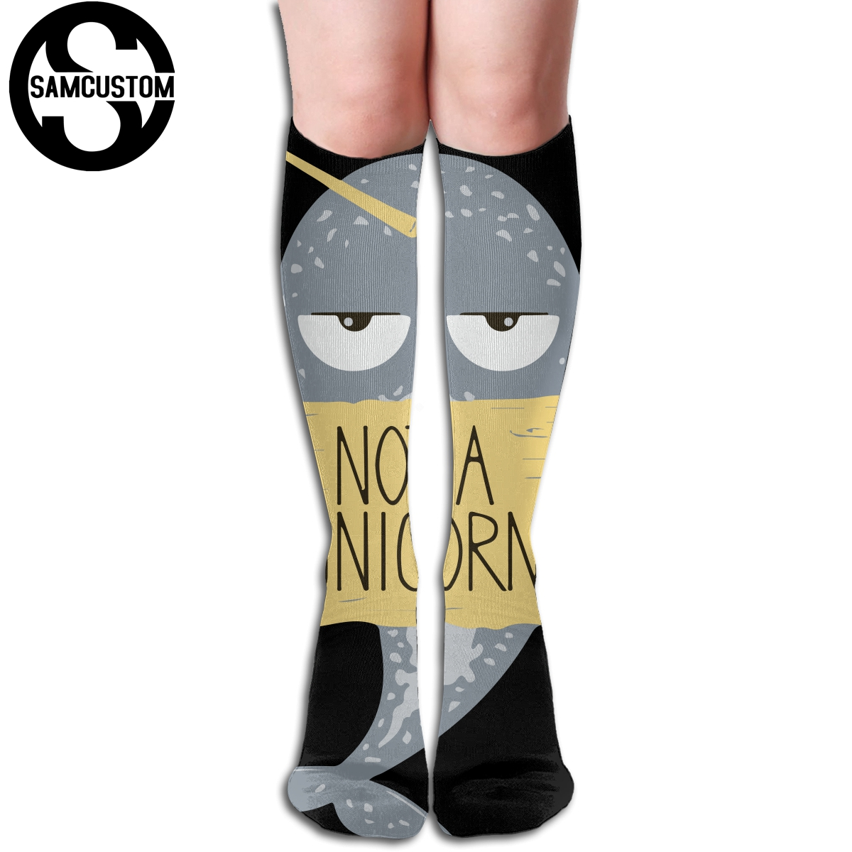 I Am Narwhal 3d Printing Female Kawaii Knee Socks Fashion Girl Cute Stockings Stockings Systematic Samcustom Personalized Custom I Am Not A Unicorn