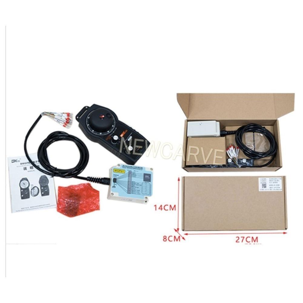 Купить с кэшбэком Siemens/ Mitsubishi/ Syntec/ Gskcnc Mach3 System Control Wireless Controller For CNC Handwheel BWGP0X-5A NEWCARVE