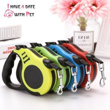 Pet product 3M/5M Dog Lead roulette Nylon Puppy Cat Leash For Small Medium Flexible Retractable Free contraction Tow Rope