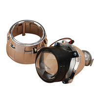 2Pcs 2.5 Inch Universal Bi xenon HID Projector Lens Silver Black Shroud H1 Xenon LED Bulb H4 H7 Motorcycle Car Headlight
