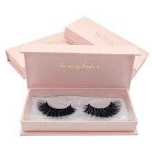 SHIDISHANGPIN 1 box 3d mink eyelashes individual lashes hand made false natural long volume eyelash