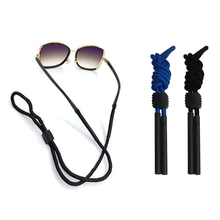 Adjustable Neck Black Sunglasses  Cord Strap Eyeglass Glasses String Lanyard Holder Nylon Pipe chain glasses lanyard