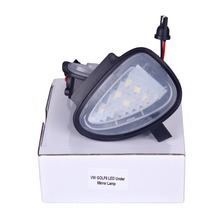 купить 2pcs T10 W5W Canbus Car LED Under Side Mirror Puddle Light for Volkswagen Golf MK6 6/MKVI 2010-2014 Auto Error Free Bright Lamp по цене 752.38 рублей