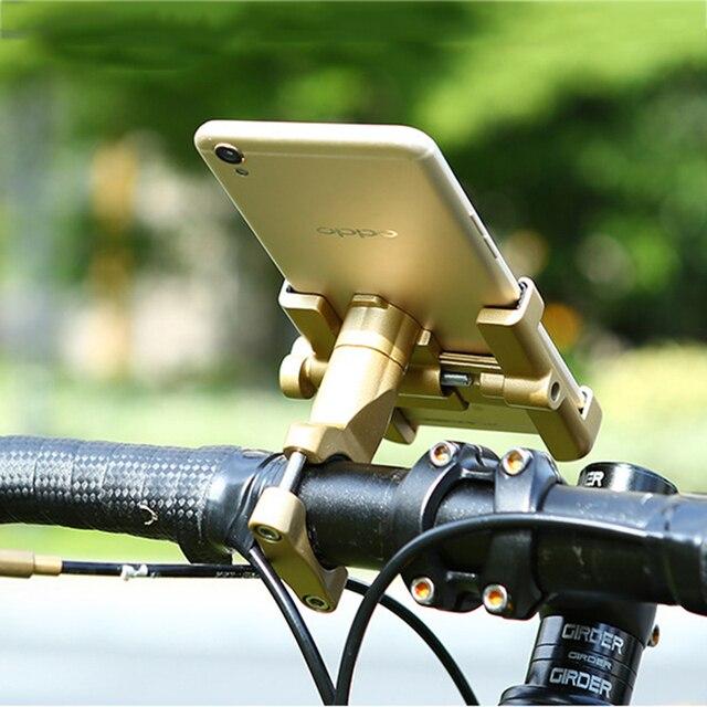 Uniwersalny uchwyt ze stopu aluminium motocykl telefon wsparcie telefon uchwyt Moto dla GPS Bike uchwyt kierownicy dla iPhone Android