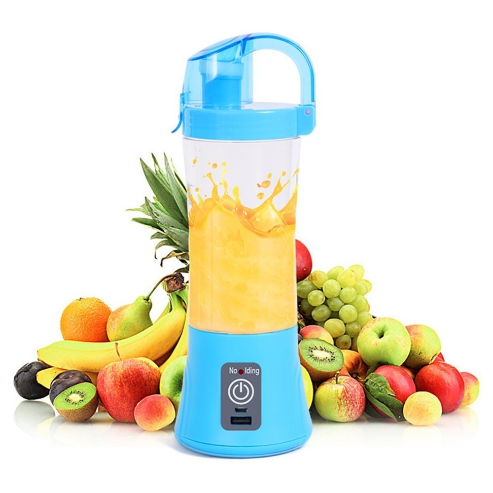 380ml Portable Blender Juicer Cup USB Rechargeable Electric Automatic Vegetable Juicer Cup Lemon Orange Maker Mixer Bottle Drop