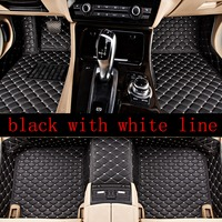 car carpets Fit for BMW X1 e84 2010 2019 Leather Car Floor Auto Mats accessories Waterproof Mat 12 color