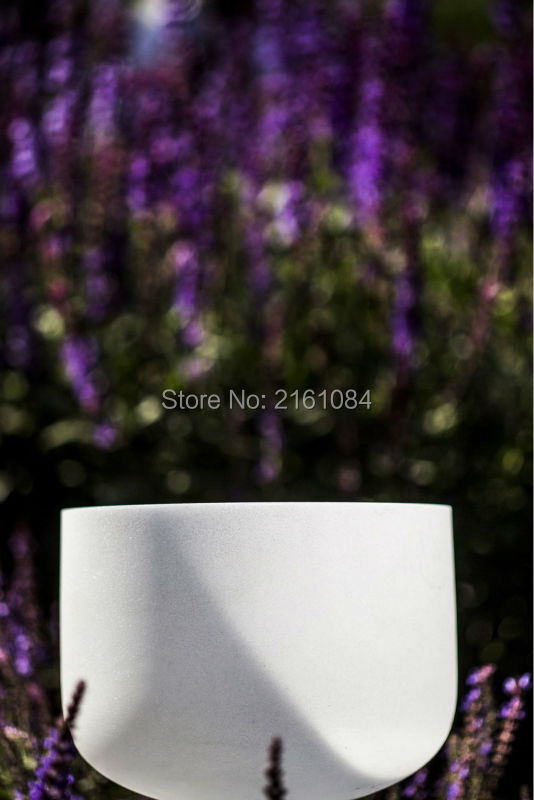12 G# Note Frosted Quartz Crystal Singing Bowl with free suede and o-ring12 G# Note Frosted Quartz Crystal Singing Bowl with free suede and o-ring