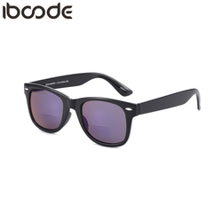 997a6571dac2 iboode Bifocal Reading Glasses Men Women Outdoor Full Frame Sunglasses  Coating Lens Diopter Presbyopic Eyeglasses +