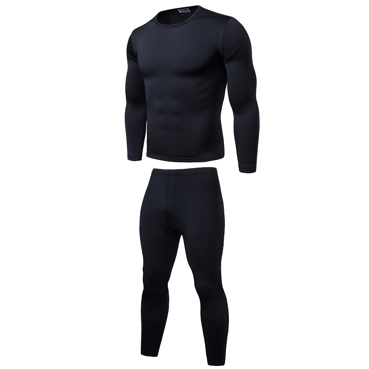 Men's Elastic Underwear Warm Fit Cotton Legging Pants Bottoms Thermal Trousers