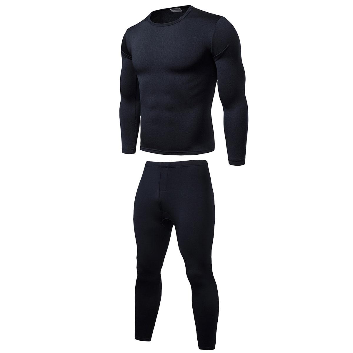 Men's Elastic Underwear Warm Fit Cotton Legging Pants Bottoms Thermal Trousers