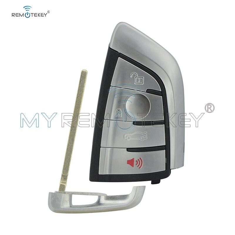 Remtekey N5F-ID2A 4 Boutons Clé De Voiture Intelligente À Distance 315 MHZ avec Insert clé intelligente pour BMW 1 2 3 4 5 6 7 Série X3 X4 X5 X6 3248A-ID2A