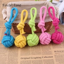 Hot Sell Dog Toys Colorful Bite Resistant Cotton Rope Puppy Aggressive Chewers Durable Training Palying Ball For Small Large