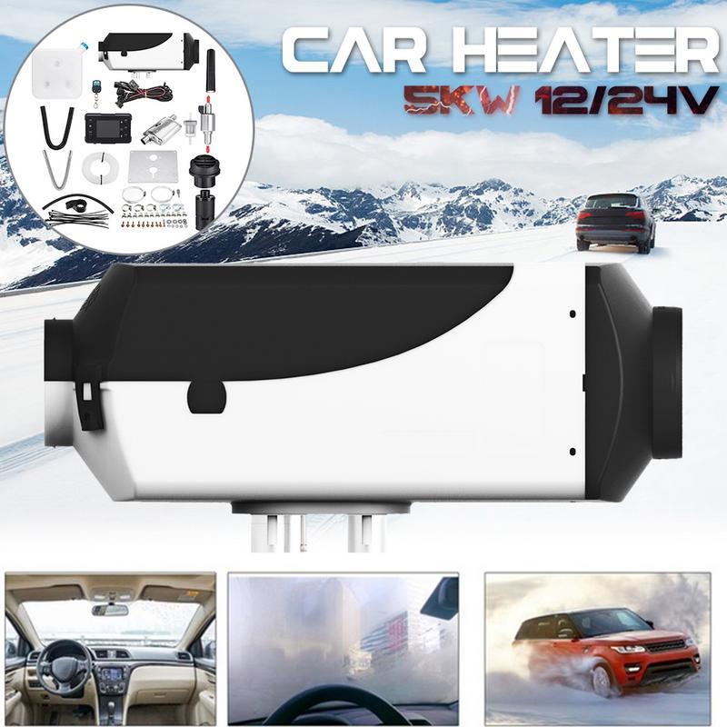 Réchauffeur de voiture 5KW 12 V/24 V Air Diesels chauffage de stationnement avec moniteur LCD télécommande pour camping-Car camping-Car camions bateaux - 4