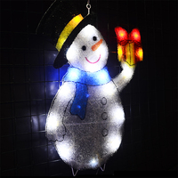 2D xmas snowman festival light 21.7 in. Tall led lights decoration outdoor christmas tree lighting decoration party home decor