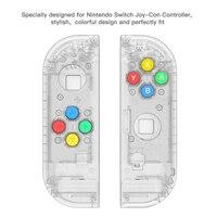 Tüketici Elektroniği'ten Yedek Parçalar ve Aksesuarlar'de 5 renkler Şeffaf kumanda muhafazası Için Joycon Anahtarı Konsolu L R Denetleyici Onarım Parçaları