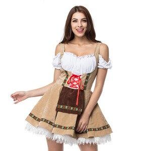 Image 1 - Oktoberfest bira hizmetçi kostüm kadınlar alman bavyera Dirndl elbise