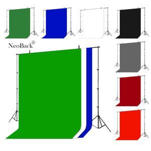 Image 3 - NeoBack хромакей муслиновый фон для фотосъемки фон для студийной видеосъемки хлопковая полиэтиленовая ткань зеленый экран однотонный портрет