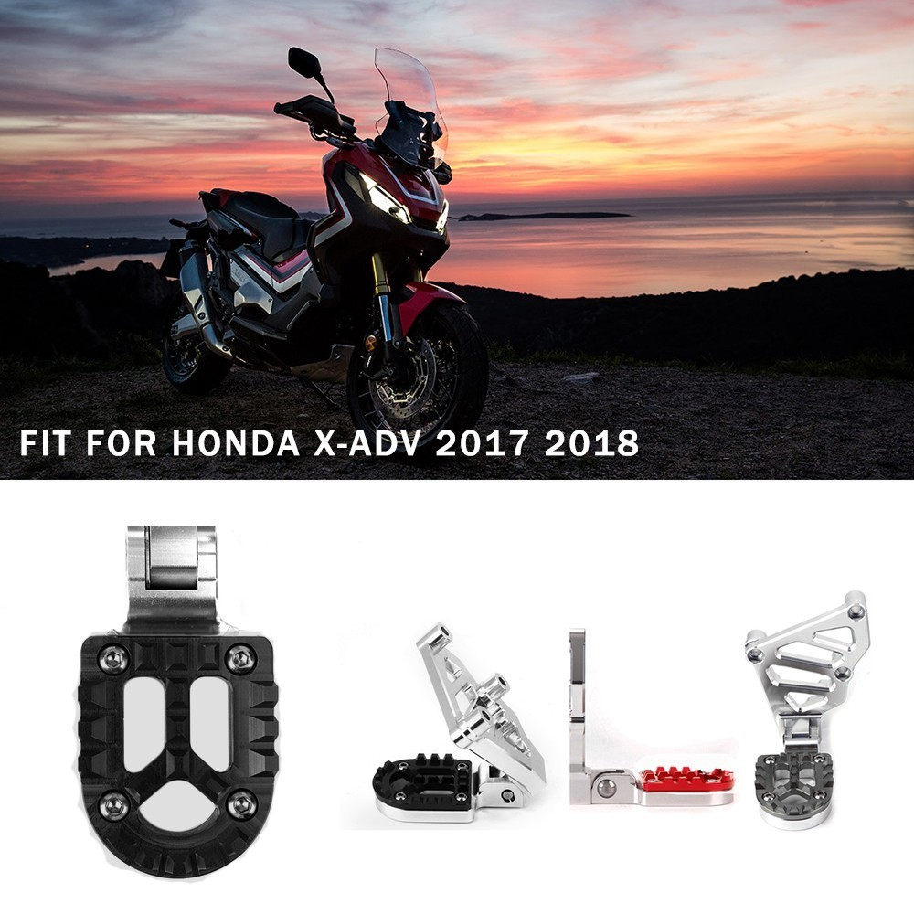 For HONDA X-ADV X ADV 750 2017 2018 Rear Foot Pegs Footrest CNC Aluminum Motorcycle Rear Sets Adjustable Foot Pegs